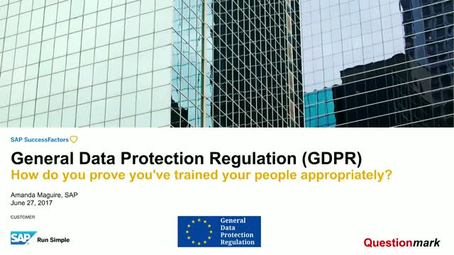 Prepare for GDPR: how do you prove you've trained your people appropriately?
