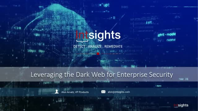 What Every Security Professional Should Know About the Dark Web