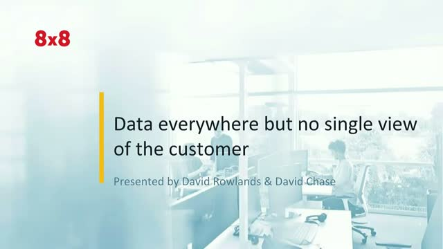 Data everywhere but no single view of the customer