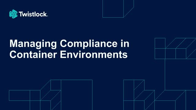 Managing Compliance in Container Environments
