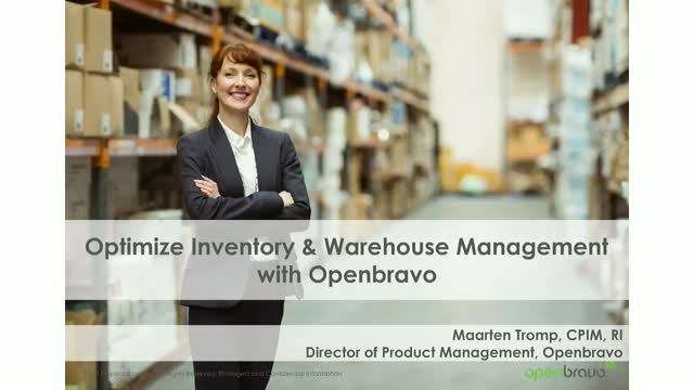 Practical Demo: Introduction to Openbravo for Advanced Warehouse Management
