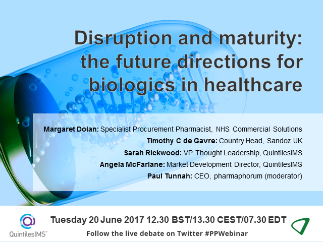 Disruption and maturity: the future directions for biologics in healthcare