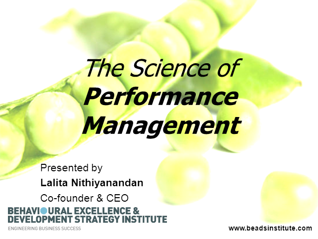 The Science of Performance Management