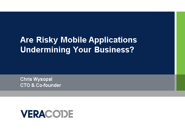 Are Risky Mobile Applications Undermining Your Business Security?