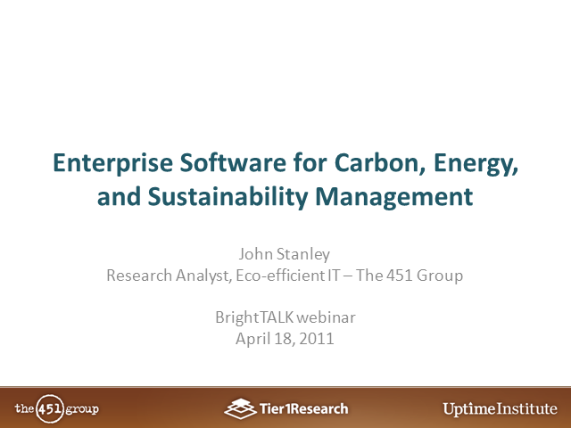 Enterprise Carbon, Energy & Sustainability Management