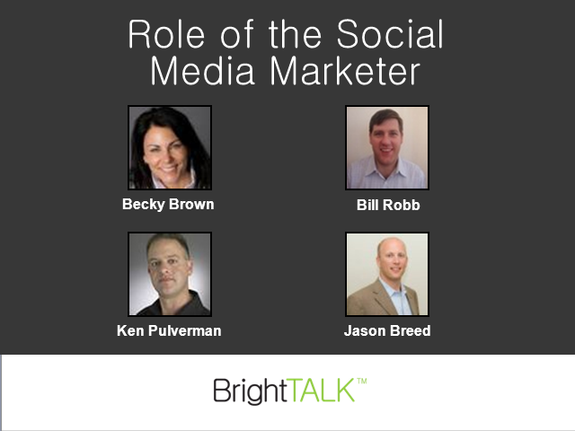 Role of the Social Media Marketer