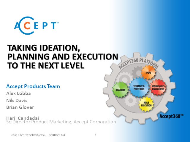 Make Customer Ideas, Strategic Planning and Agile Execution Count