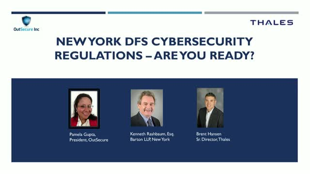 NY DFS Cybersecurity Regulations - Are You Prepared?