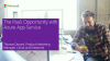 The PaaS Opportunity with Azure App Service