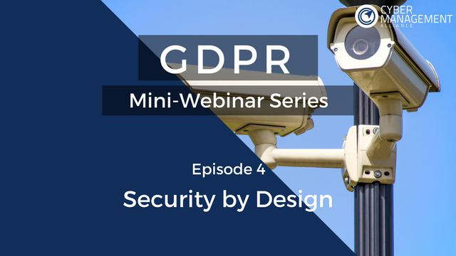 GDPR Training Lesson 4 - Security by Design