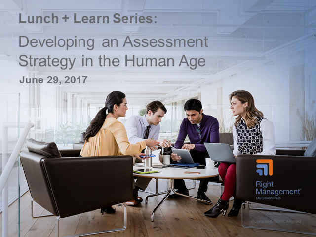 Developing an Assessment Strategy in the Human Age
