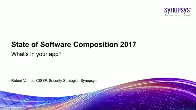 State of Software Composition 2017 - What's in your app?