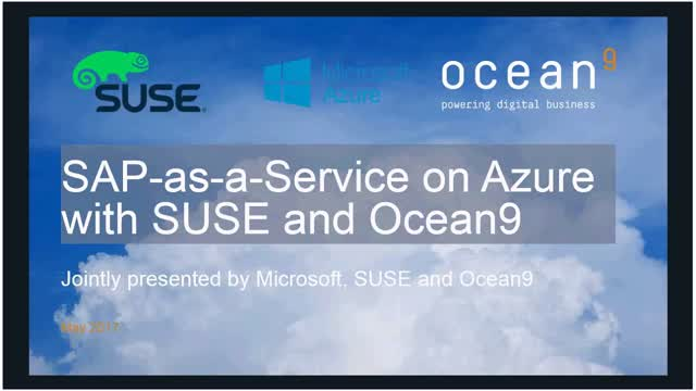 SAP-as-a-Service on Microsoft Azure