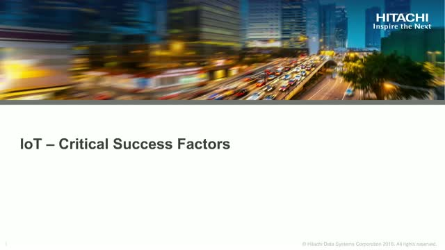IoT - Critical Success Factors
