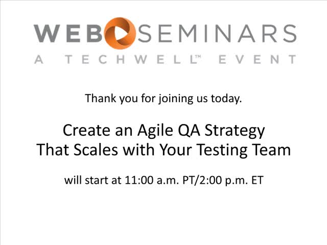 Create an Agile QA Strategy That Scales with Your Testing Team
