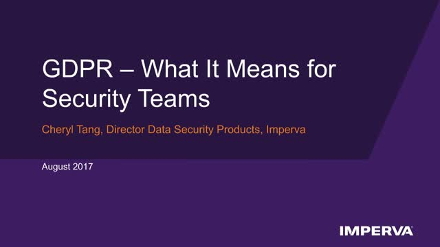 GDPR and What It Means for Security Teams