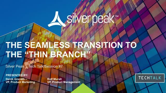 """The Seamless Transition to the """"Thin Branch"""""""
