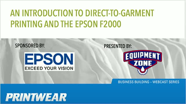 An Intro to Direct-to-Garment Printing and the Epson F2000