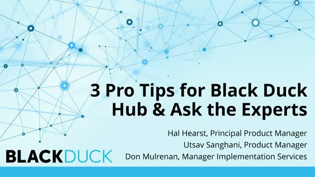 3 Pro Tips for Black Duck Hub & Ask the Experts