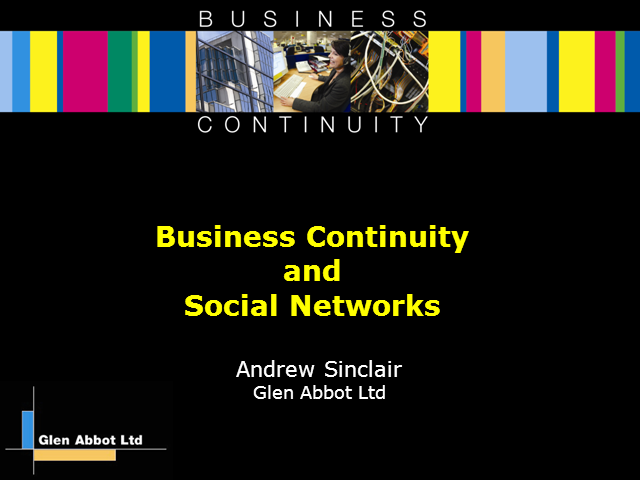 Social Networks and Business Continuity