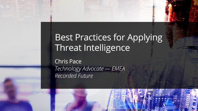 Best Practices for Applying Threat Intelligence