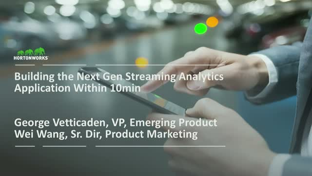 Building Next Generation Streaming Analytics Application - Within 10 Min