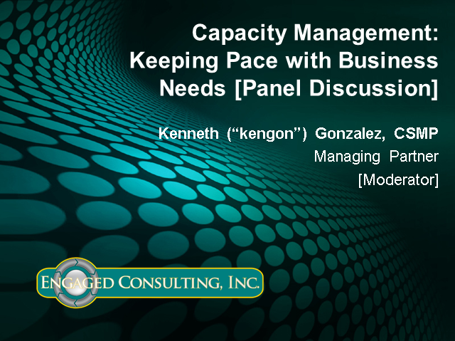 Capacity Management: Keeping Pace with Business Needs