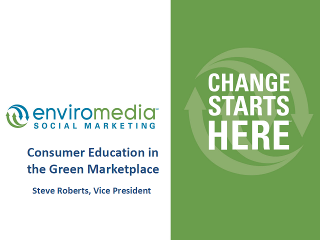 Consumer Education in the Green Marketplace