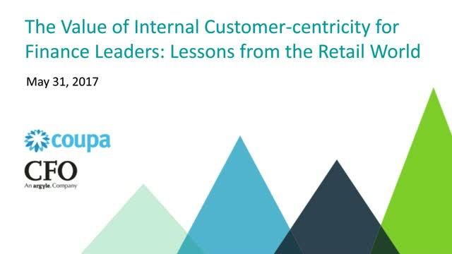 The Value of Internal Customer-centricity for Finance Leaders