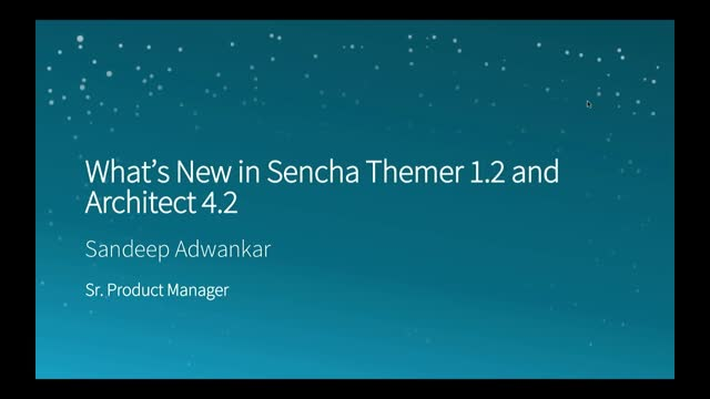 SNC - What's New in Sencha Themer 1.2 and Architect 4.2