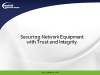Securing Network Equipment with Trust and Integrity