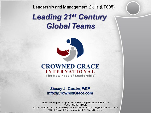 Leading 21st Century Global Teams
