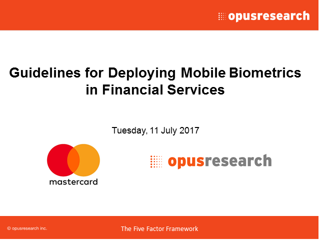 Guidelines for Deploying Mobile Biometrics in Financial Services