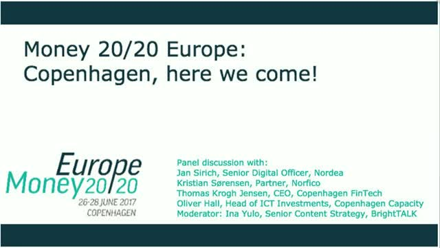 Money 20/20 Europe: Copenhagen, here we come