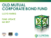 Old Mutual Corporate Bond Fund update - Q2 2017
