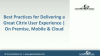 Best Practices for Delivering a Great Citrix User Experience