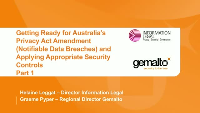 Getting Ready for Australia's Privacy Act Amendment (Notifiable Data Breaches)