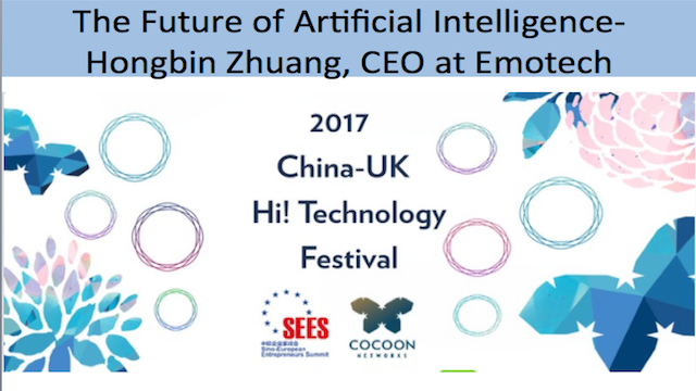 The future of Artificial Intelligence - Hongbin Zhuang, CEO at Emotech