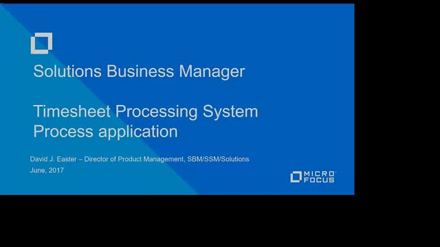 SBM Process App - Time Processing System