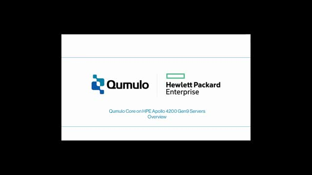 HPE & Qumulo Bring Modern Scale-Out Storage To The Enterprise (Product Demo)