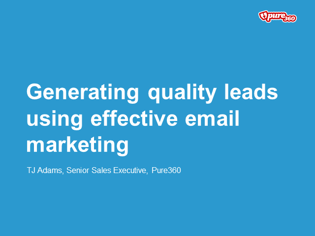Generating quality leads using effective email marketing