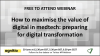 How to maximise the value of digital in medtech