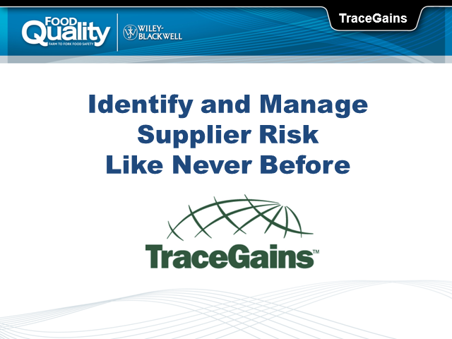 Identify and Manage Supplier Risk Like Never Before