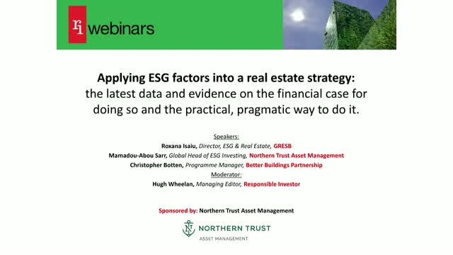 Applying ESG factors into a real estate