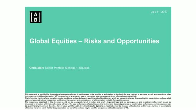 Today's Opportunities in Global Equities