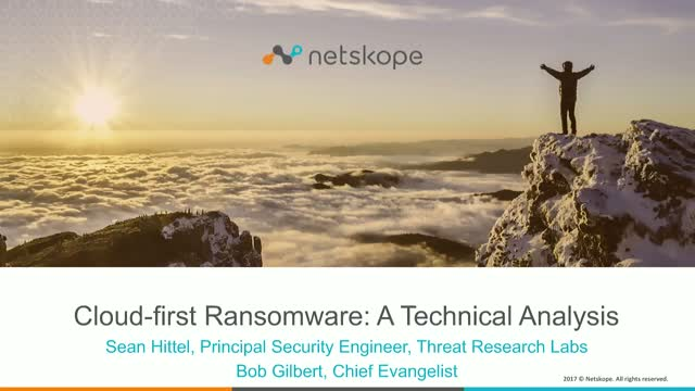"""Cloud-First"" Ransomware - A Technical Analysis"
