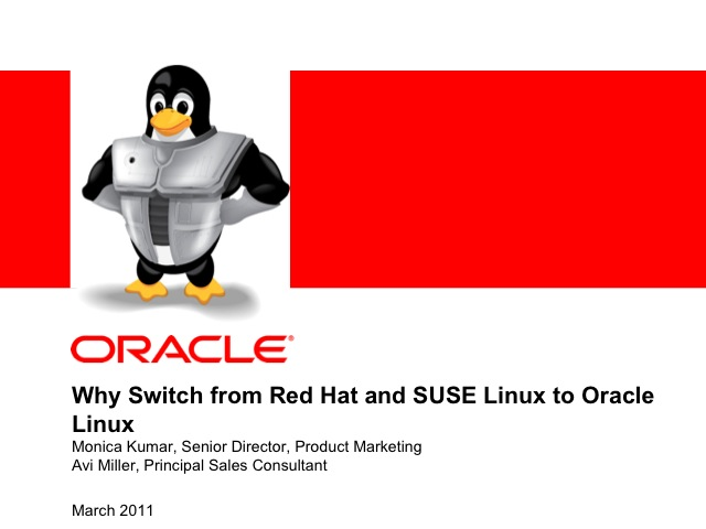 Why Switch from Red Hat and SUSE Linux to Oracle Linux
