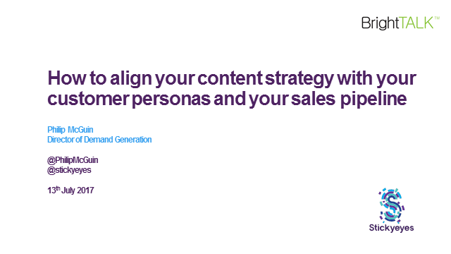How to align your B2B content strategy with your customer personas and your sale