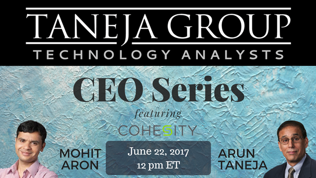 CEO Series featuring Cohesity