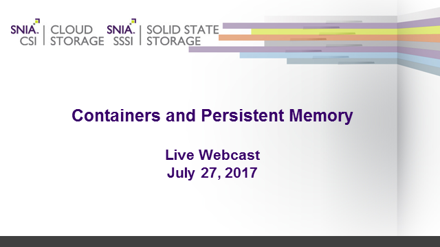 Containers and Persistent Memory